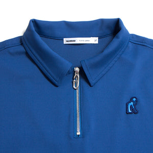 Zip Up Navy Polo