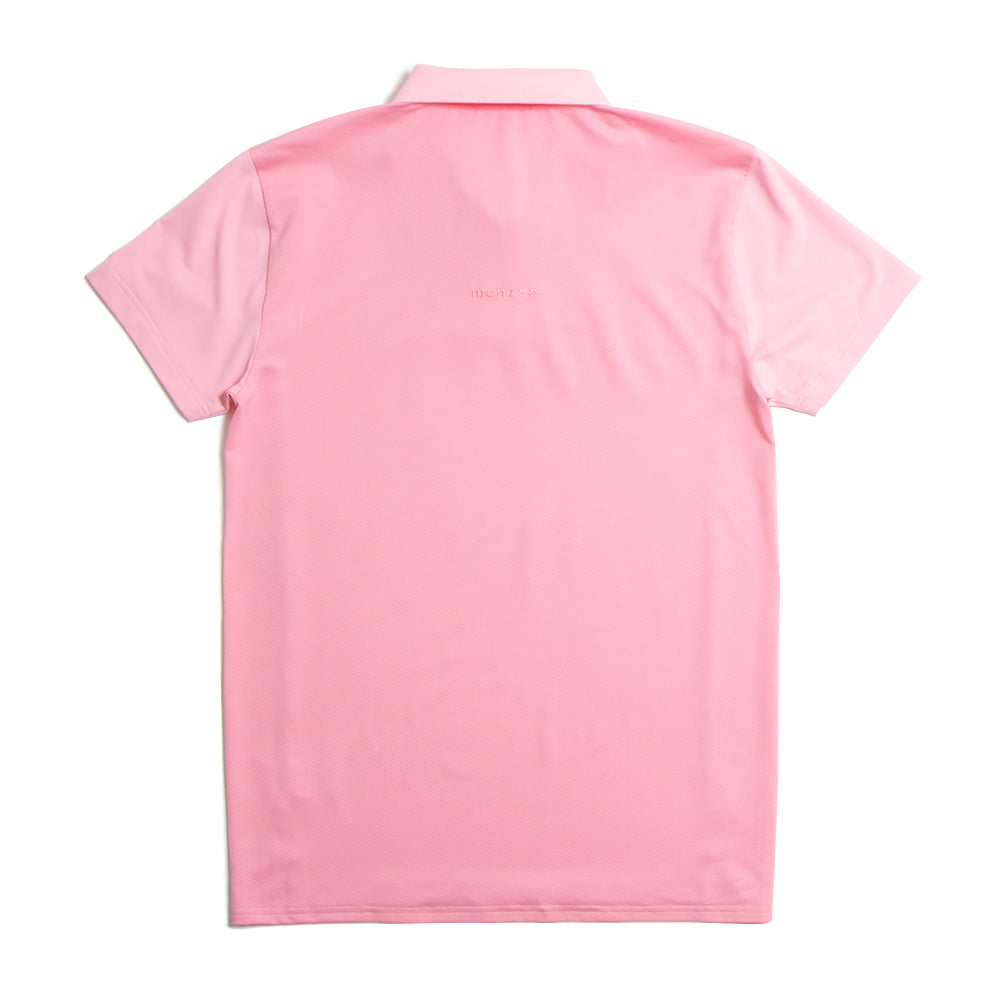 Zip Up Rib Polo Pink(40%off)