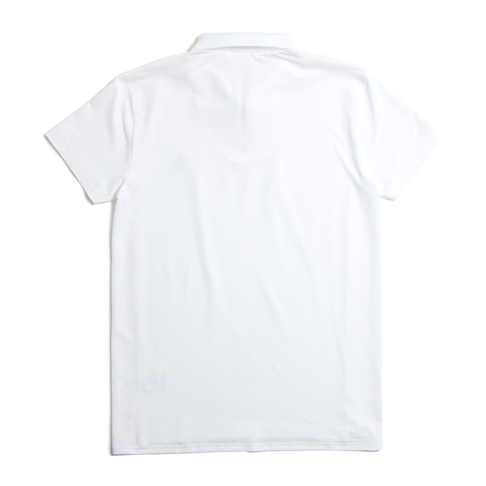 Zip Up Rib Polo White(40%off)