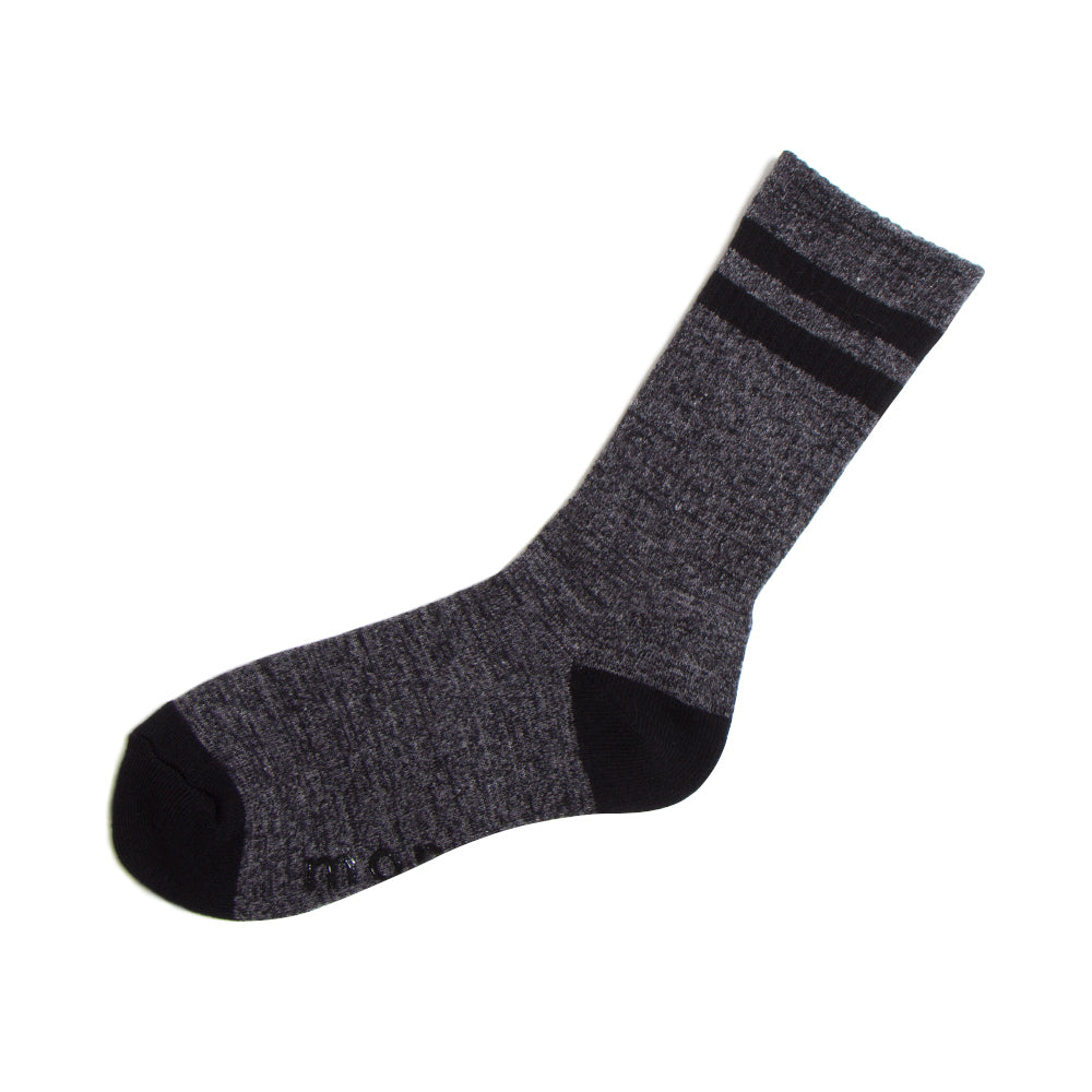 2 Line Socks Black