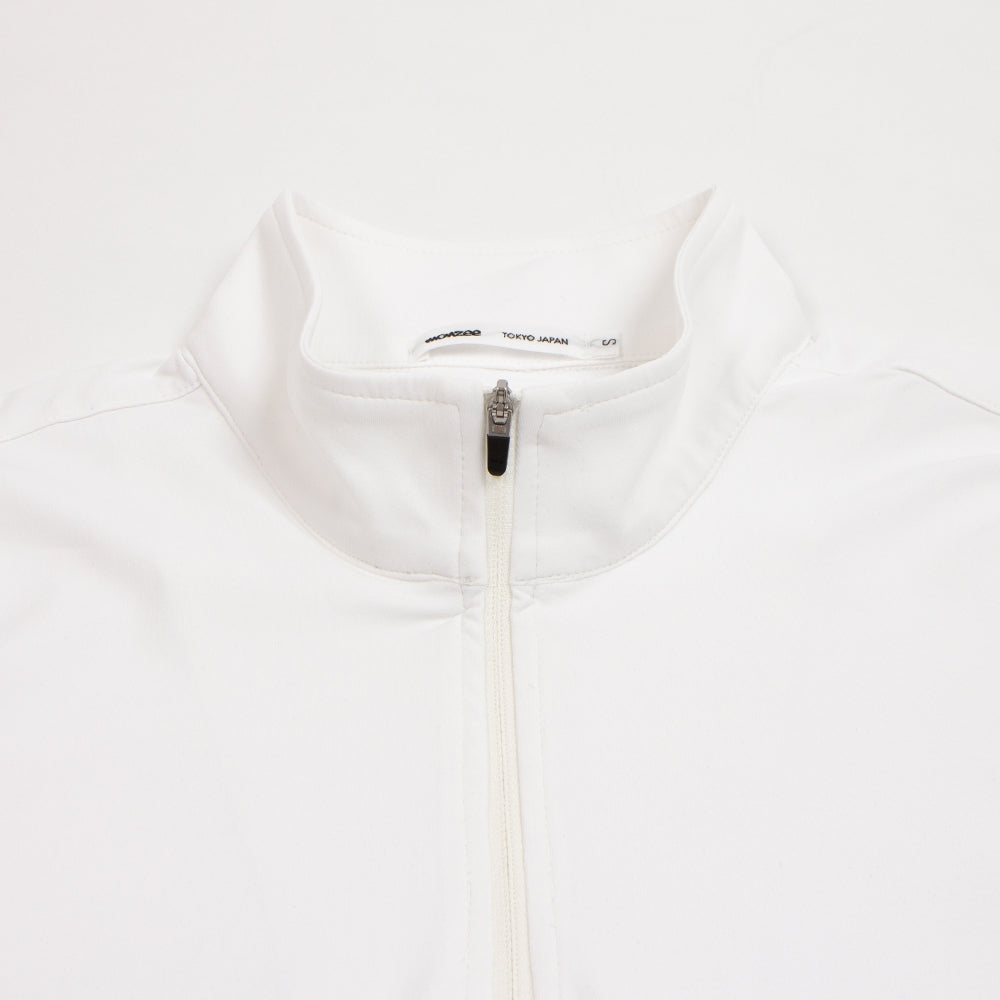 Zip-Up Long White