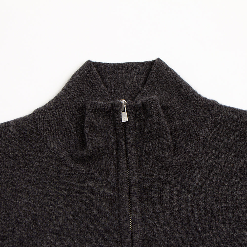 Cashmere Zip-Up