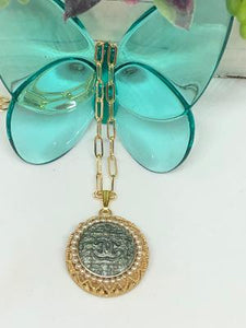 #144 Vintage Couture Necklace 28mm