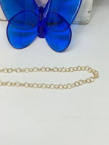 #303 Necklaces/Chains- Circle Link Chain Shinny Gold