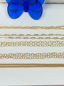 #304 Necklaces/Chains- Oval Link Chain Matte Gold