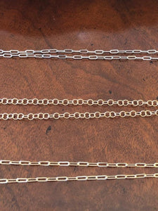 #22 Necklaces/Chains- Circle Link Chain Matte Gold