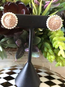 #174 Vintage Couture Earrings 18mm