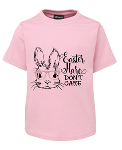 Easter Hare Don't Care Short Sleeve Tee