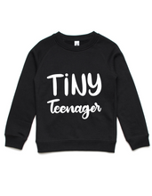 Tiny Teenager- Kids Crew Jumper- Black