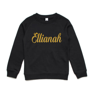 Personalised kids winter set- Crew Jumper and Long Sleeve