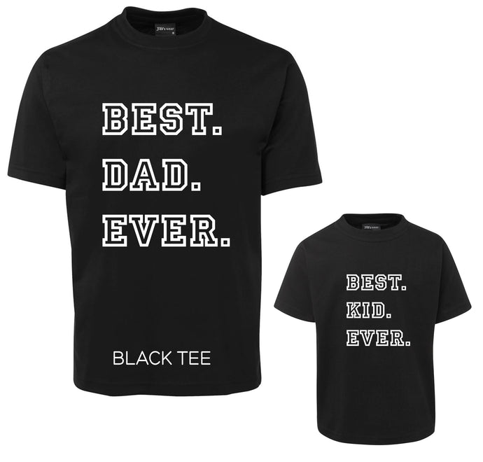 Matching DAD and KID Tee Set