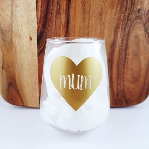 Mum- Tumbler Wine Glass