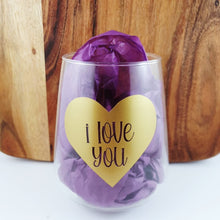 i love you- Tumbler Wine Glass
