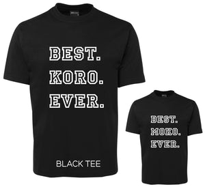 Matching KORO and MOKO Tee Set