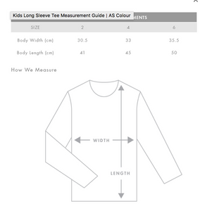KIWI- Kids Long Sleeve Tee