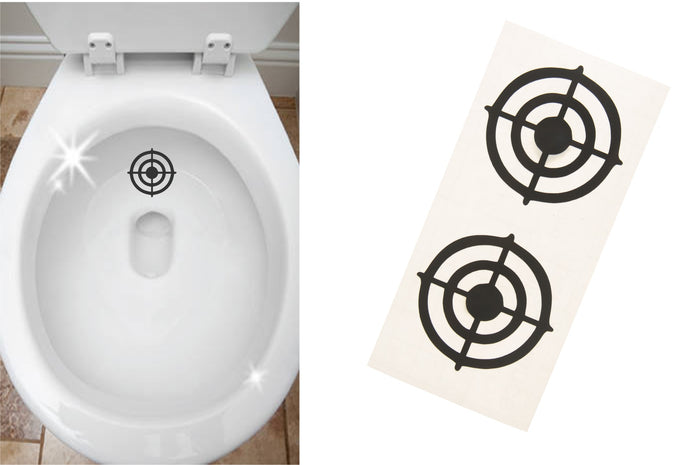 BOYS TOILET TARGETS - TWIN PACK