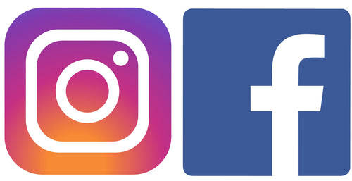Facebook + Instagram Icon Decal
