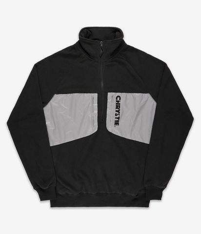 Chrystie NYC - Logo Mock Neck Polar Fleece Black