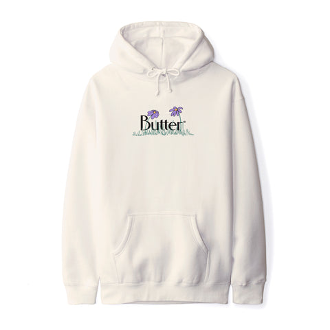 Butter Goods - Flowers Classic Logo Pullover Hoodie - Bone