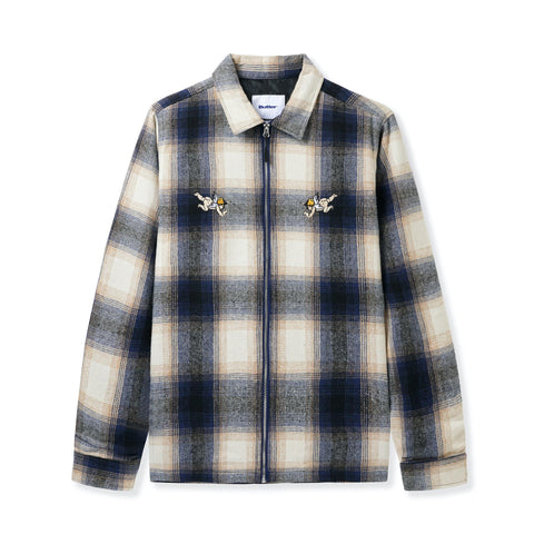 Butter Goods - Angels Heavyweight Plaid Overshirt Navy/Beige