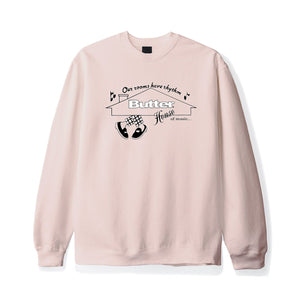 Butter Goods - House of Music Crewneck - Dusty Pink