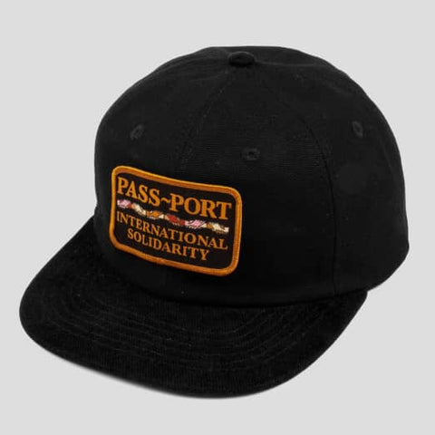 Pass~Port - Inter Solid Patch 5 Panel Cap Black
