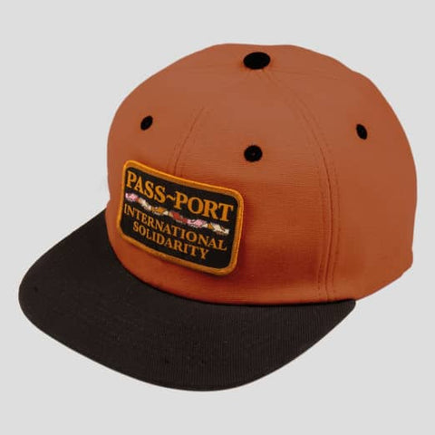 Pass~Port - Inter Solid Patch 5 Panel Cap Brown