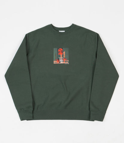 Skateboard Cafe - Endure Crewneck Forest Green