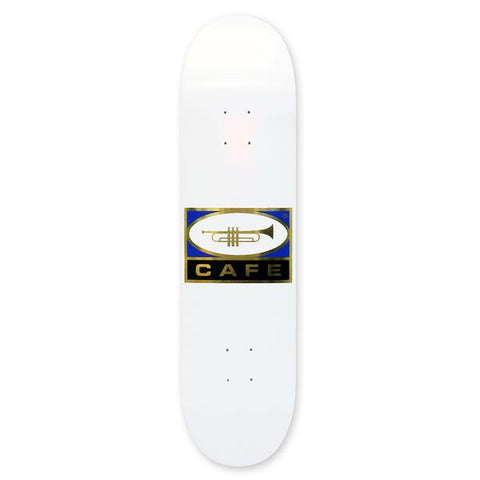Skateboard Cafe - Trumpet Logo Deck White