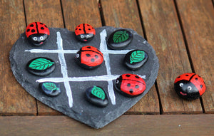 Ladybirds and Leaves (Noughts and Crosses)