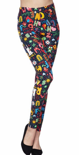 Alphabet and Pictures Leggings