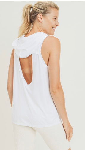 Open Back Hooded Top