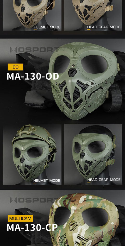 WST Breathable Halloween Tactical Protective Face Mask