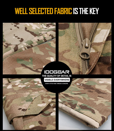 Perfect for military, airsoft, duty, hunting...all kinds of outdoor activities! Breathable,soft and comfortable,excellent performance in sweat absorption Employ high end material:50% cotton+50% terylene, add Teflon water-resistant coating to make it more comfortable and durable. Accordion Style design for pockets to enlarge the capacity,with velcro cover for rapidly taking out gears. Cargo pocket:Bigger opening for easily taking out, practical and convenient, not bloated. Crotch triangulation clipping:Improve the activity space when wearing, no bondage, more smooth cutting, better crotch stretch release, improve comfortability during sports YKK zipper, with smooth zipper puller, not easy to break.