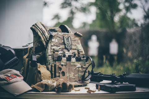 UTA Universal Armoured Lightweight Modular Tactical Plate carrier - MC Camo Limited Edition