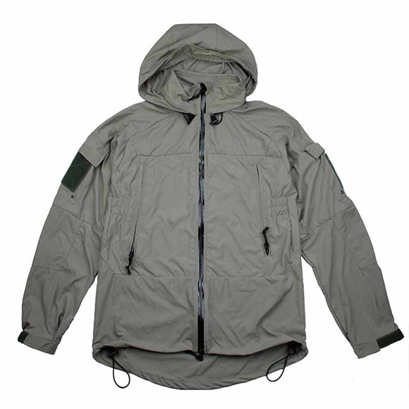 TMC Tactical Cordura Nylon Soft Shell Zipper Coat PCU L5 Wind Coat Jacket - Dark Grey