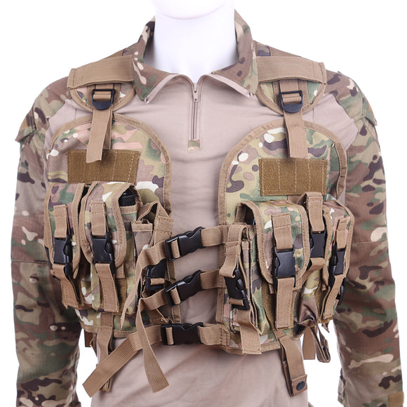 HS Quick Release Navy Seal Chest Rig Tactical Vest - tacticalxmen