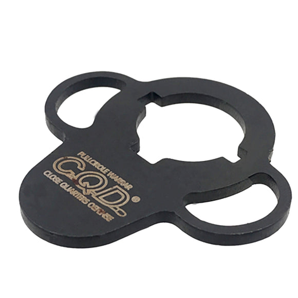 CQD Steel Quick Detach Sling Swivel - Black - tacticalxmen