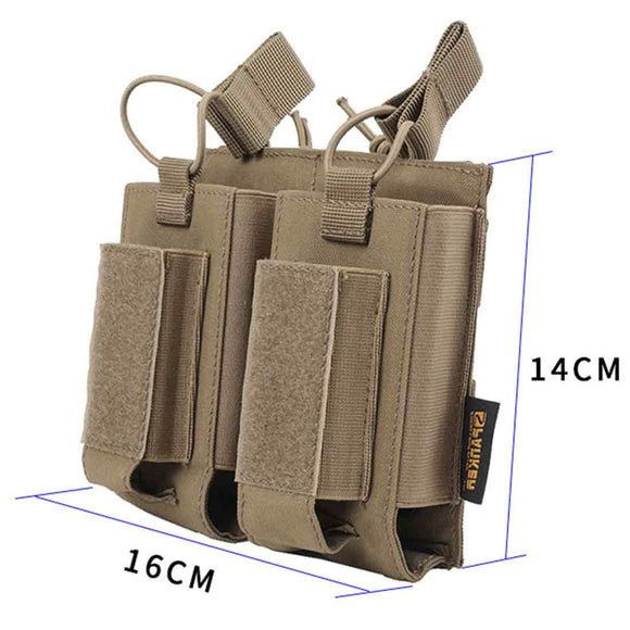 Spanker 500D Nylon Tactical Mag Pouch M4 Double Magazine Pouch AK Military Hunting Equipment