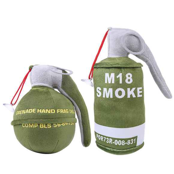 M67 Creative Ornament Grenade Shape Pillow with M18 Smoke Bomb Bolster Throw Pillow Home Office Car Comfortable Cushion Set - tacticalxmen