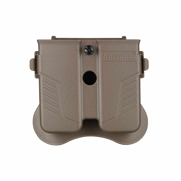 Amomax Tactical Universal Double Magazine Pouch for 9mm 40' or 45' Caliber Magazine