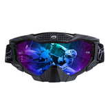 Multi-function Assembleable Goggles for Outdoor War Game-Black Frame+Colorful Replective Lens - tacticalxmen