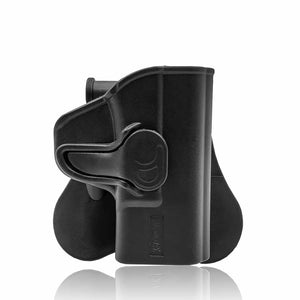 "Amomax Adjustable Tactical Holster for S&W M&P Shield 40 3.1"" 9mm 3.1"" - Right-handed Black (Standard only with waist plate, no other accessories)"