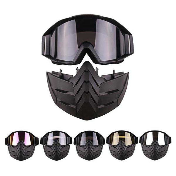 Cool Tactical Face Mask with Detachable Lens - tacticalxmen