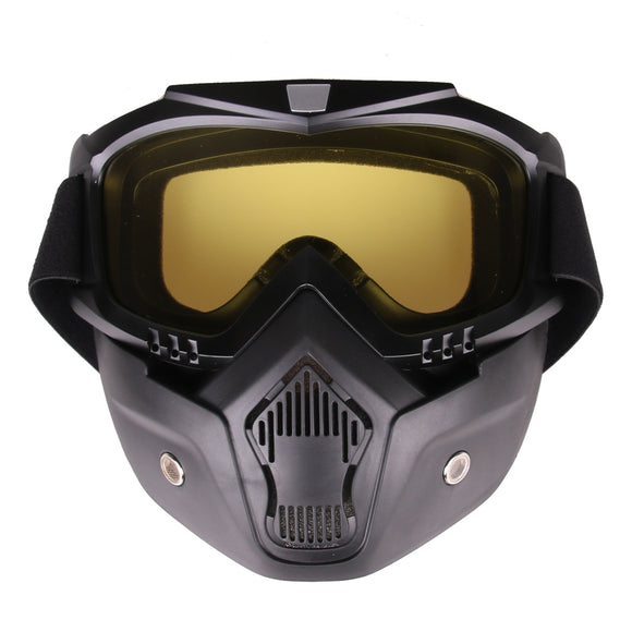 Classic Style Protective Mirror Face Mask with Lens - tacticalxmen