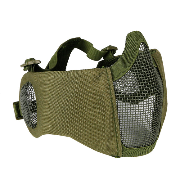 Battlefield Airsoft Half Face Masks Steel Mesh Mask for Hunting, Paintball, Shooting - tacticalxmen