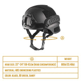 MICH 2001 Style ACH Tactical Helmet with NVG Mount and Side Rail - tacticalxmen