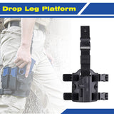 Amomax Tactical Drop Leg Platform Compatible with All Amomax Holsters Magazine Pouches - Tan and black