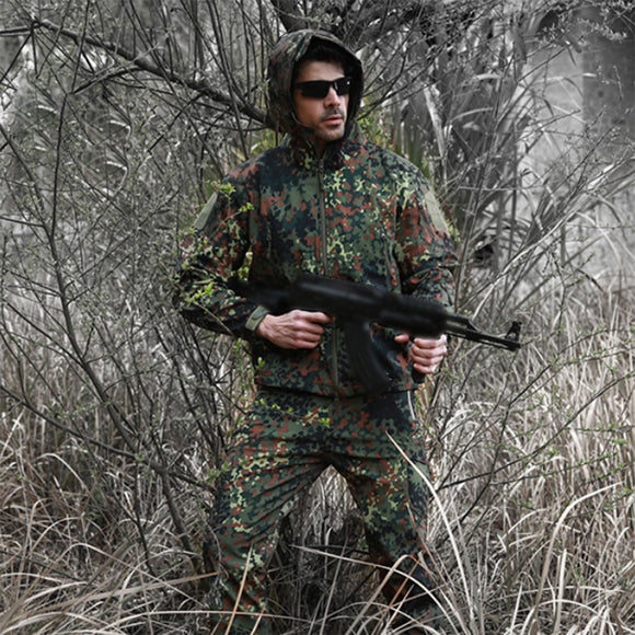 ESDY Waterproof Warm Outdoor Winter Jacket with Hood - tacticalxmen