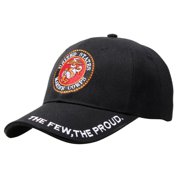 Marine Corps Logo Baseball Cap Low Profile Cap for Head Circumference of 52-62cm - tacticalxmen